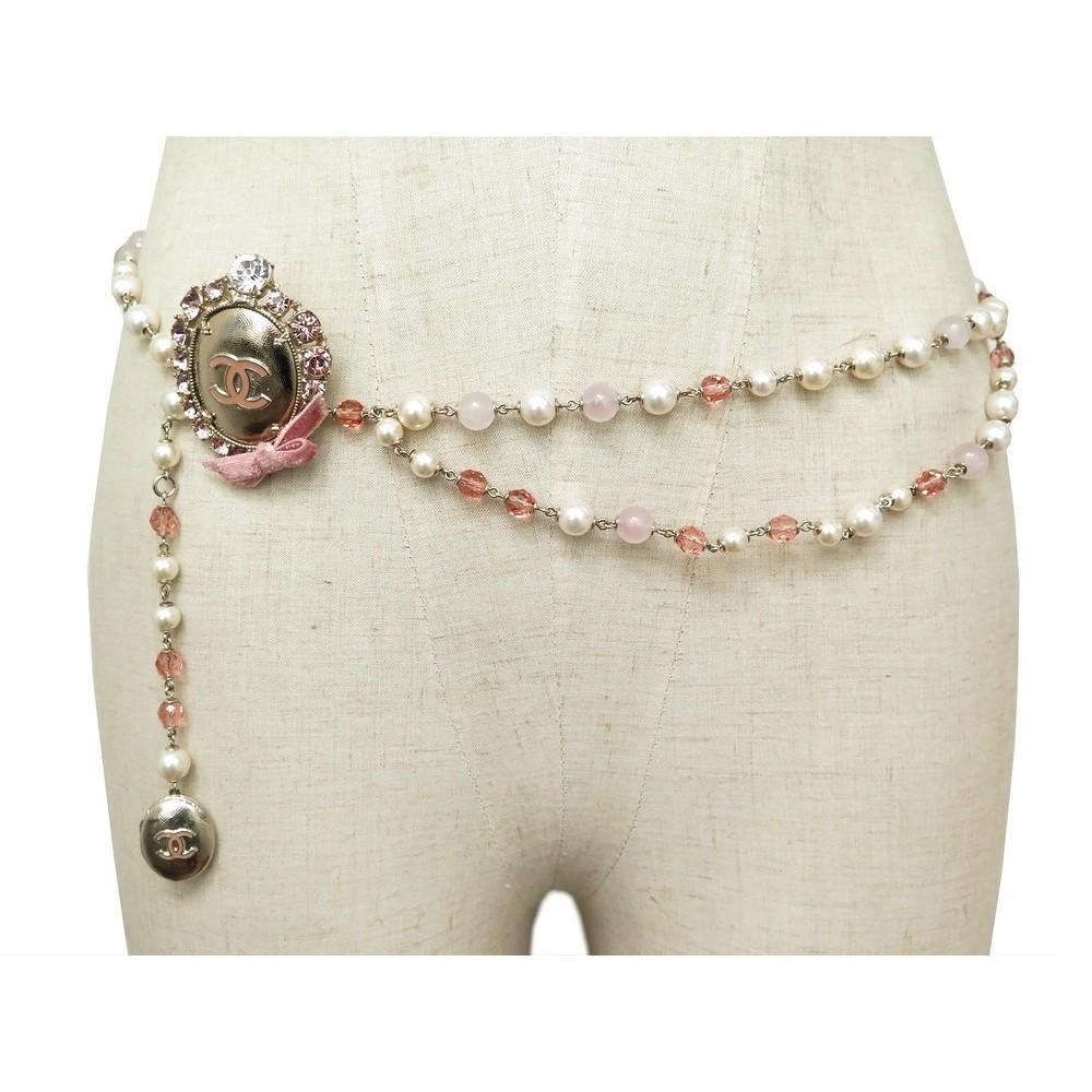 la meilleure attitude 36716 fdaba ceinture chanel perles strass t 80 en metal