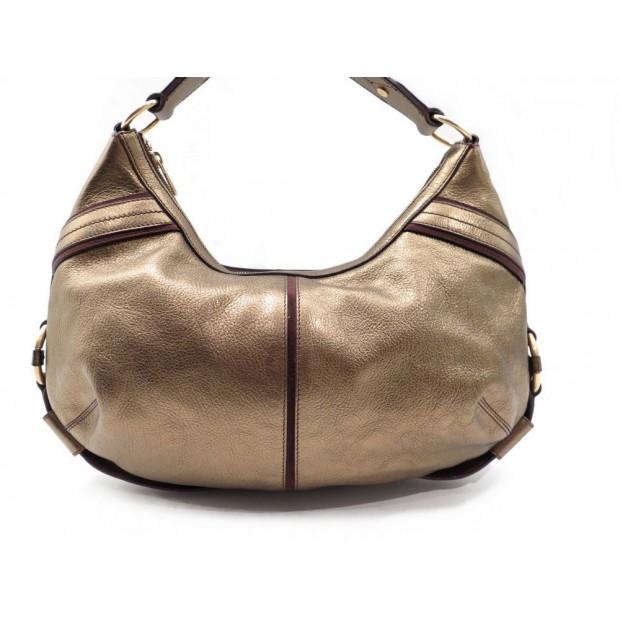 SAC A MAIN YVES SAINT LAURENT 153216 40 CM EN CUIR DORE HAND BAG PURSE 850€