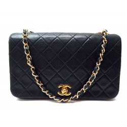 e577910c589a SAC A MAIN CHANEL TIMELESS 2.55 PM EN CUIR NOIR MATELASSE HAND BAG PURSE