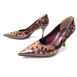 NEUF CHAUSSURES DOLCE & GABBANA POULAIN LEOPARD 37.5
