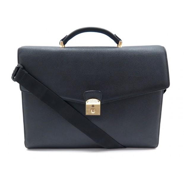 6a885f345b cartable le tanneur sac en cuir noir bandoulliere