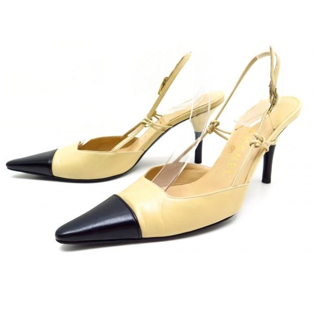 Chaussures Chanel Bicolore 39 Escarpins Cuir