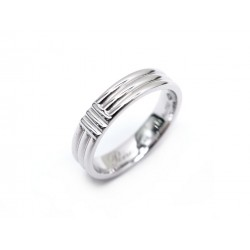 NEUF BAGUE POIRAY MA PREMIERE OR BLANC 18K TAILLE 49