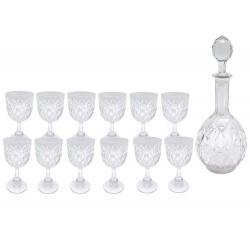LOT DE 12 VERRES A VIN BACCARAT COLBERT EN CRISTAL CARAFE WINE GLASSES DECANTER