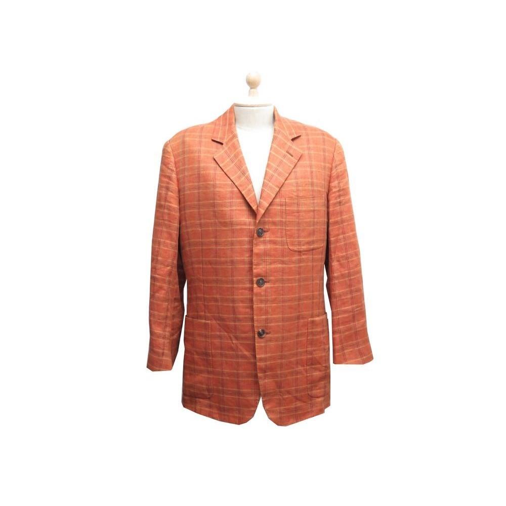 a919aaa69efd veste hermes de costume taille 50 l en lin orange