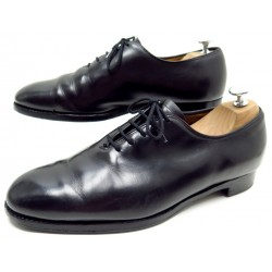 CHAUSSURES CHURCH'S NEW YORKER RICHELIEU ONE CUT 7.5F 41.5 CUIR NOIR SHOES 490€