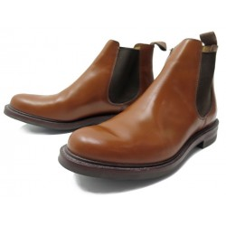 NEUF CHAUSSURES CHURCH'S BOTTINES CHELSEA 8.5F 42.5 CUIR MARRON LOW BOOTS 590€
