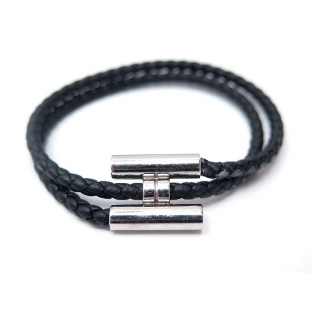 11439492054 bracelet hermes tournis cordon tresse t16.5 noir