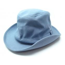 NEUF CHAPEAU HERMES FUNK H141025N TAILLE 59 MIXTE LIN BLEU BLUE LINEN HAT 261€