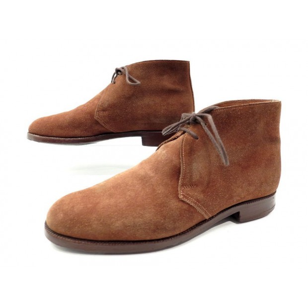 CHAUSSURES CROCKETT & JONES CHERTSEY 6.5E 40.5 41 BOTTINES CHUKKA DAIM SHOE 430€