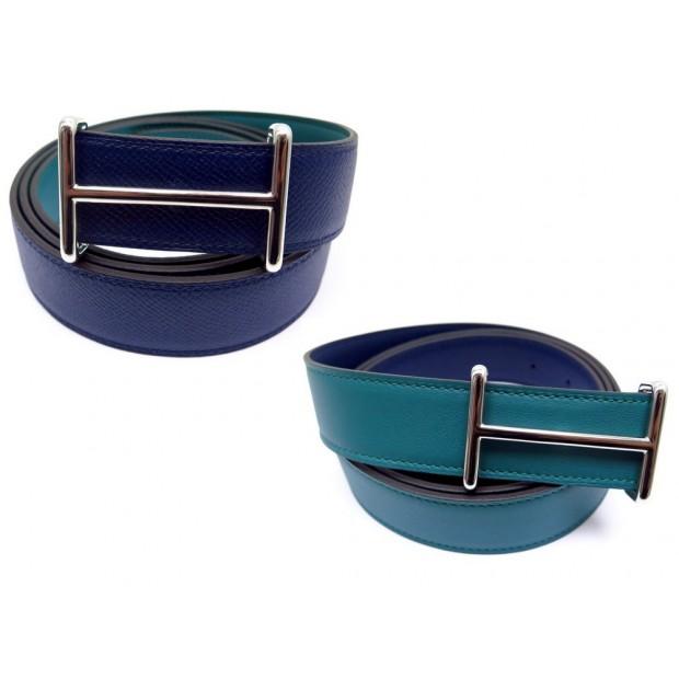 ceinture hermes reversible t 110 cuir bleu 09debf9c2fa