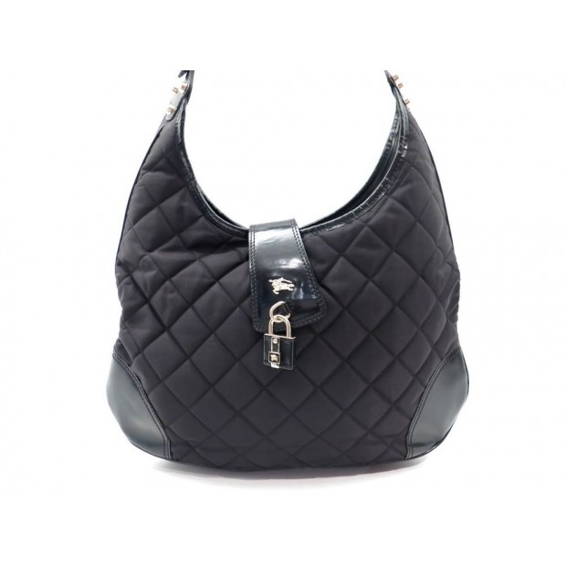 SAC A MAIN BURBERRY CABAS MATELASSE TOILE NOIRE TOTE BLACK HAND BAG PURESE 600€