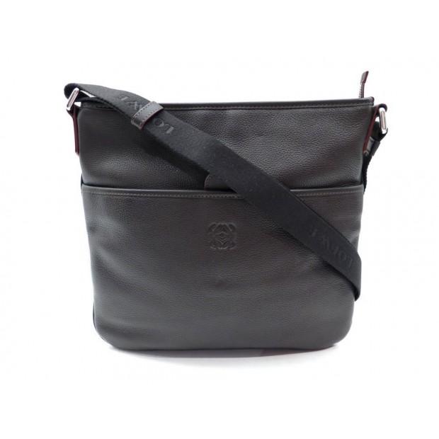 SAC A MAIN LOEWE POCHETTE BANDOULIERE 271203 EN CUIR MARRON HAND BAG PURSE 600€
