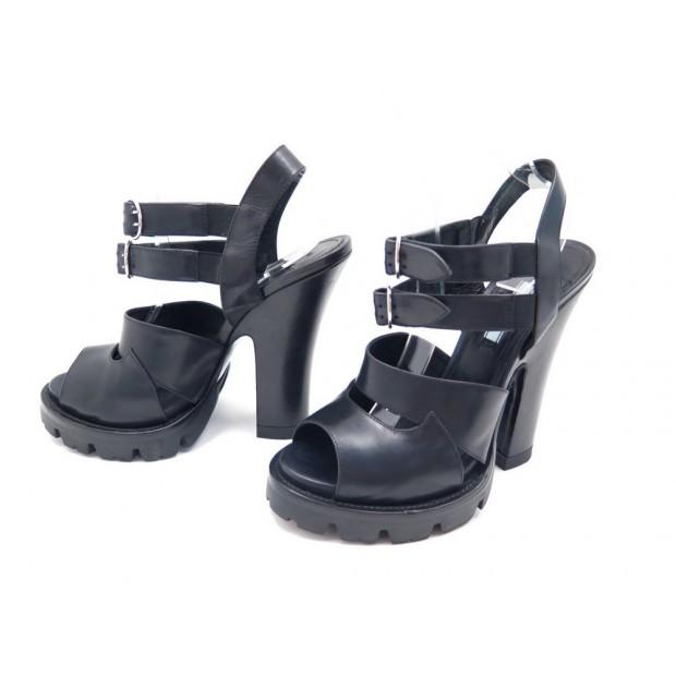 online for sale authentic arriving chaussures prada sandales a talons 40 cuir noir