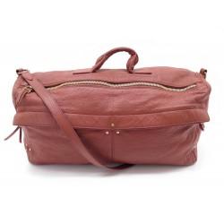 SAC A MAIN JEROME DREYFUSS RICHARD BANDOULIERE CUIR GRAINE MARRON BAG PURSE 600€