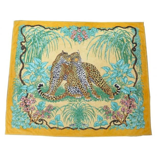 grand drap de plage hermes jungle leopard