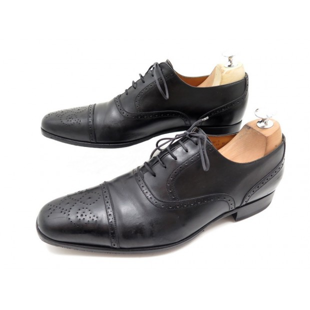 CHAUSSURES JM WESTON 416 RICHELIEU BOUT DROIT 9D 43 CUIR NOIR LEATHER SHOES 700€