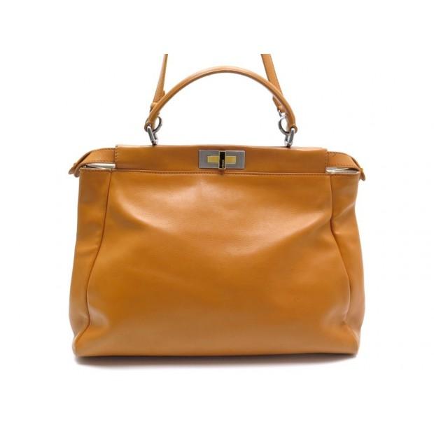 510e81c6d617 sac a main fendi peekaboo 8bn210 gm cuir orange