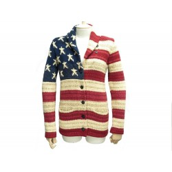 GILET RALPH LAUREN DENIM & SUPPLY DRAPEAU AMERICAIN 38 M US FLAG CARDIGAN 300€