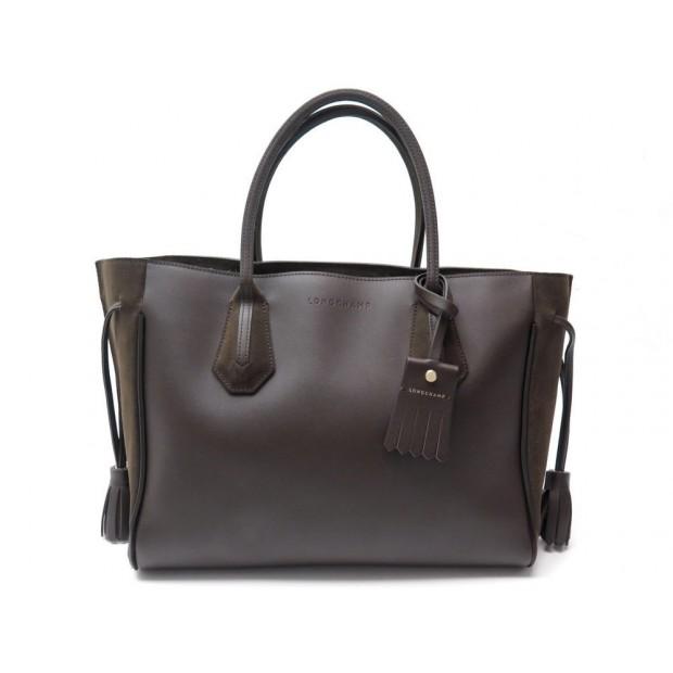 sac a main longchamp penelope m 1295861 cuir et daim