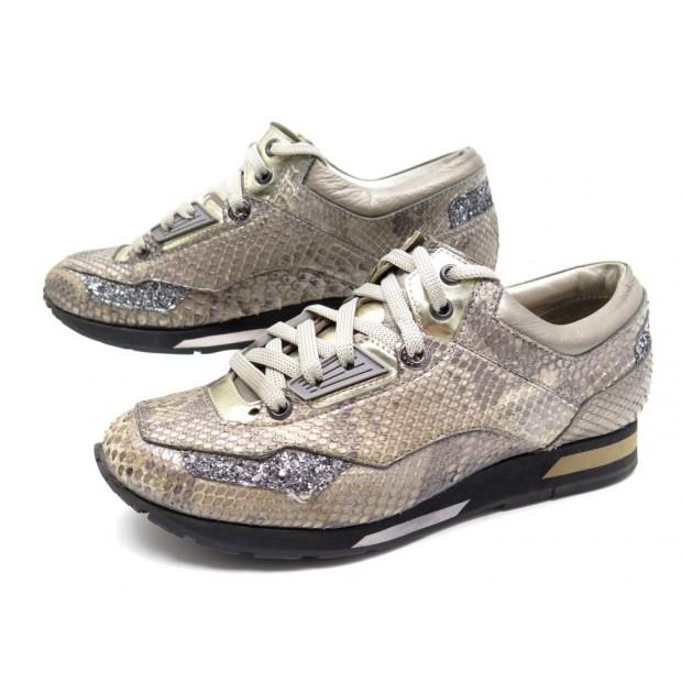 chaussures lanvin basket en cuir de