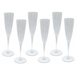 NEUF 6 COUPES A CHAMPAGNE BACCARAT DOM PERIGNON N.3 1845244 CRISTAL CLAIR 600€