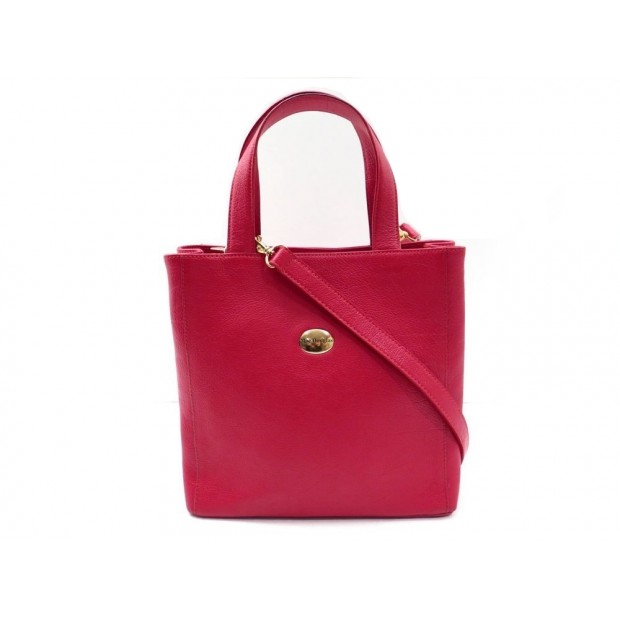 SAC A MAIN MAC DOUGLAS SHOPPING BANDOULIERE CUIR ROUGE RED LEATHER HAND BAG 260€