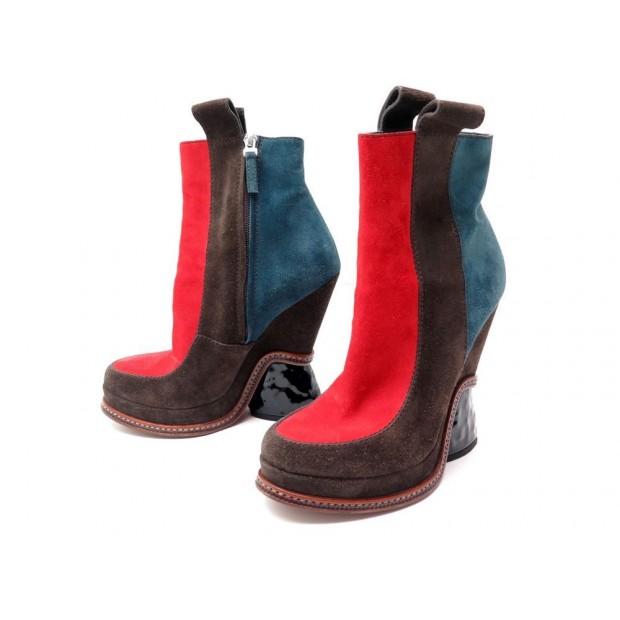 afdd6a22bd766 chaussures bottines a talon fendi 38 veau velours