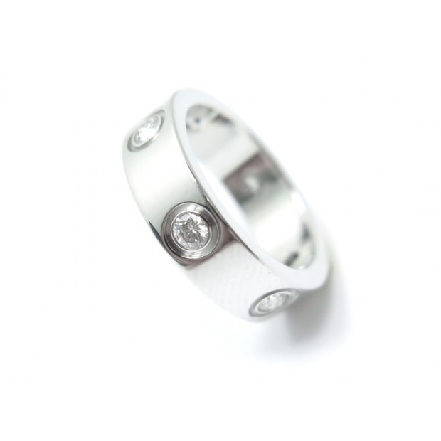 NEUF BAGUE CARTIER LOVE CRB4026000 T 50 6 DIAMANTS OR GRIS BLANC 18K RING 5400€