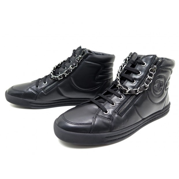 chaussures chanel baskets montantes 40 chaine 2454f4e92d0