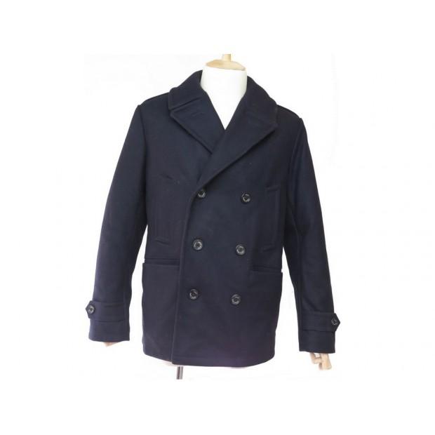 07613ff04c4 manteau polo ralph lauren caban 52 l en laine bleu