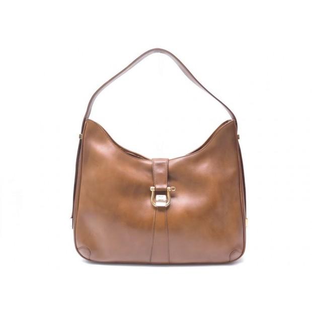 acheter pas cher d8244 30b7b sac a main gucci hobo cuir marron porte epaule