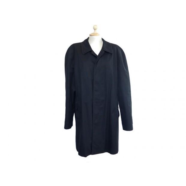 pas mal 43786 287be impermeable burberry l 54 homme en coton noir manteau
