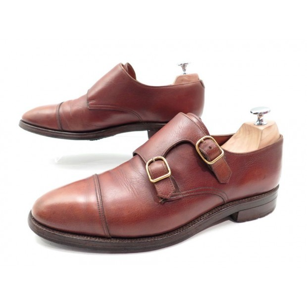 CHAUSSURES JOHN LOBB WILLIAM BI BOUCLE 9E 43 EN CUIR MARRON BUCKLE SHOES 1095€