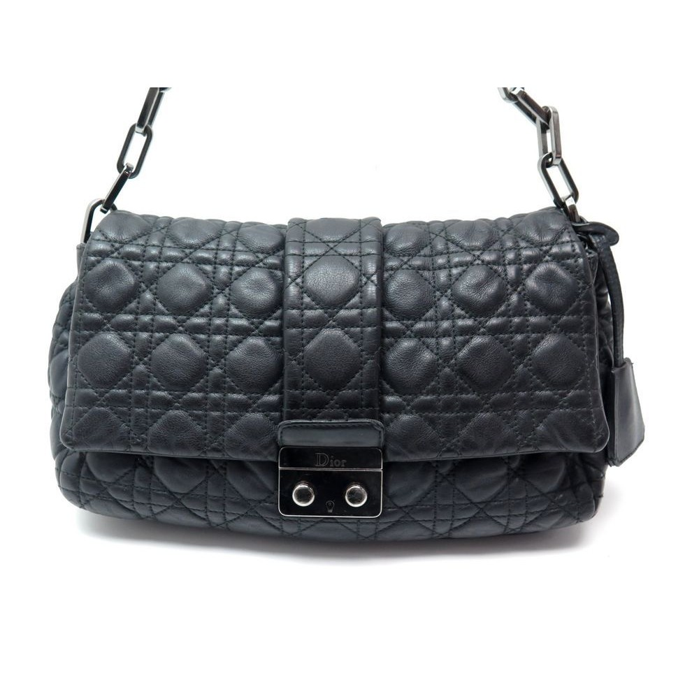 54558227d4 SAC A MAIN CHRISTIAN DIOR MISS DIOR SOFT CUIR NOIR. Loading zoom