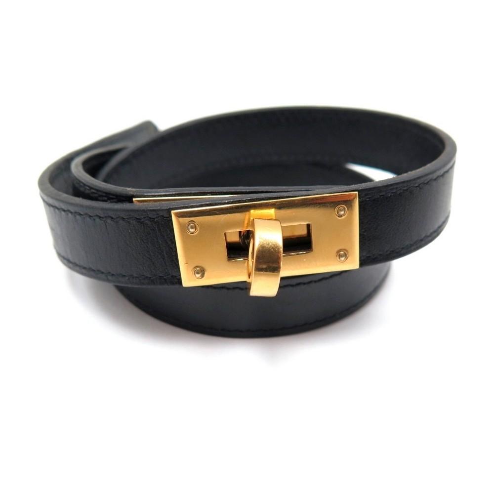 9a21ce21235 collier hermes kelly choker 39 cm cuir evercalf noir
