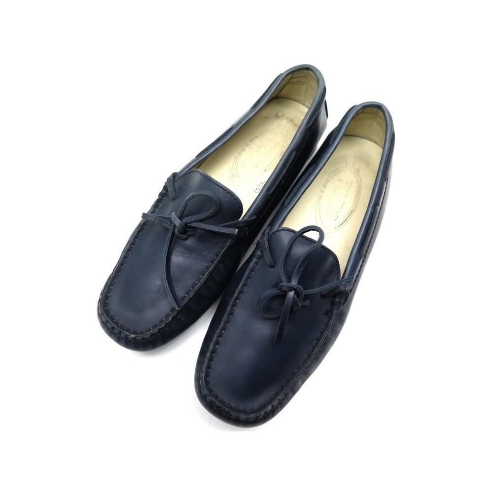 Bleu Chaussures Tod's En Mocassins 36 Cuir Femme Rjc3Lq54A