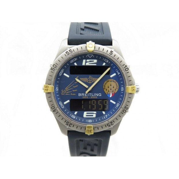MONTRE BREITLING AEROSPACE EDITION LIMITEE F75362 40 MM QUARTZ EN TITANE WATCH