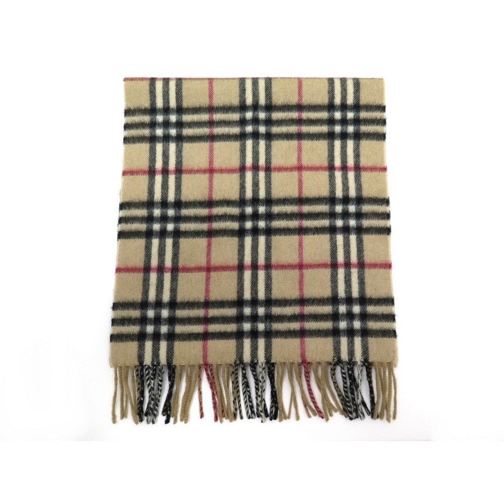a942f29fa92d NEUF ECHARPE BURBERRY MOTIF CHECK TARTAN EN CACHEMIRE BEIGE CASHMERE SCARF  395€. Loading zoom