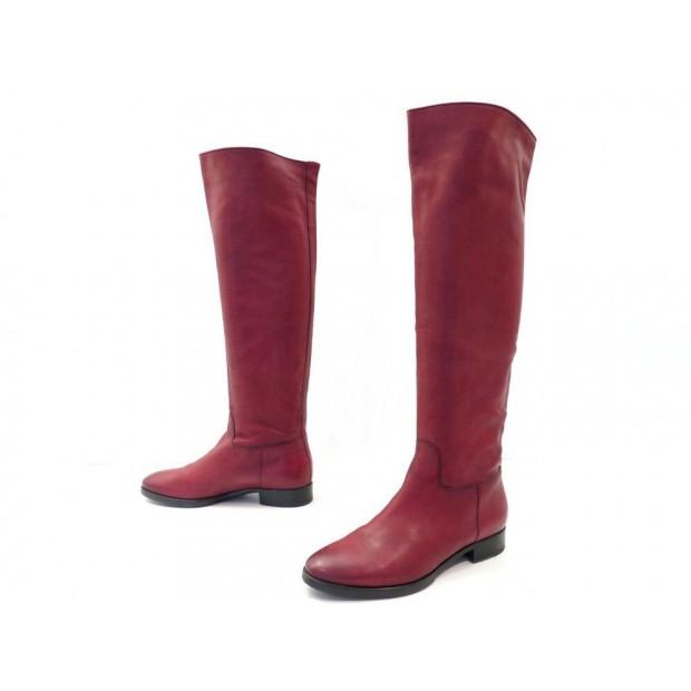 chaussures de séparation prix de détail pas cher à vendre chaussures santoni bottes cavalieres 38 en cuir rouge