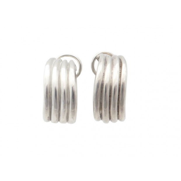 VINTAGE BOUCLES D'OREILLES TIFFANY & CO ARGENT MASSIF 13.5G SILVER EARRINGS 450€