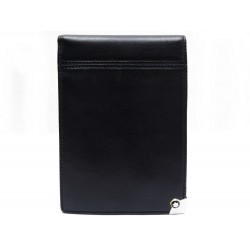PORTE BLOC NOTES MONTBLANC MEISTERTUCK PLATINUM EN CUIR NOIR BLACK NOTEBOOK 220€