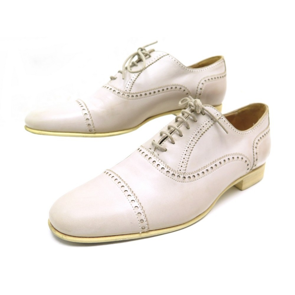 a17e54650f58a2 CHAUSSURES HERMES LOUISE H121016Z90375 RICHELIEU 37.5 CUIR BEIGE ROSE 780€.  Loading zoom