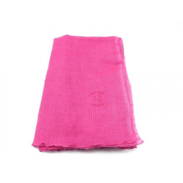 FOULARD HERMES ETOLE PLUME EN CACHEMIRE SOIE ROSE PINK CASHMERE SILK SCARF 775€