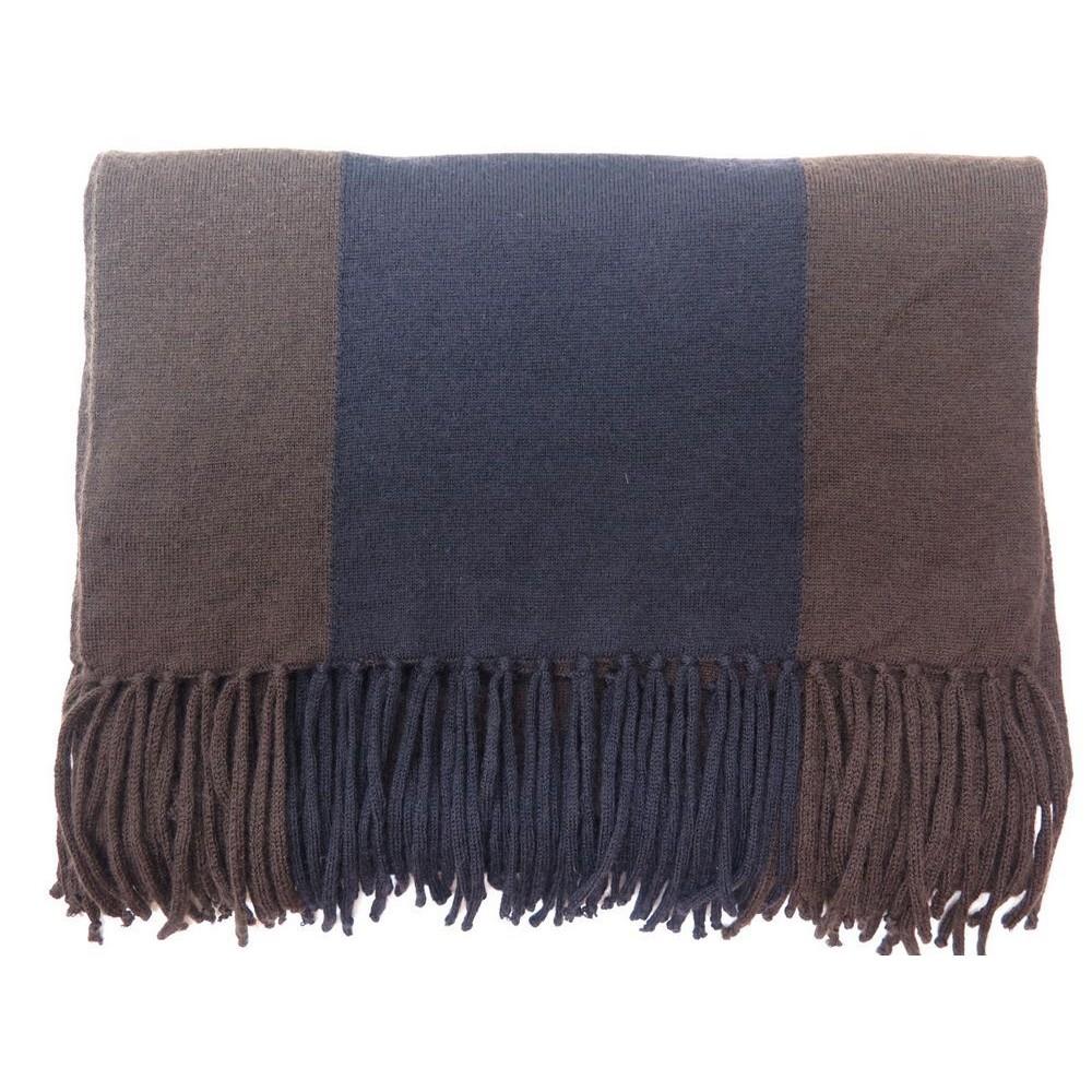 echarpe hermes en laine cachemire etole bleu marron 5d8f27461d5