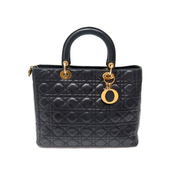 45e6491f0f sac a main christian dior lady large gm en cuir