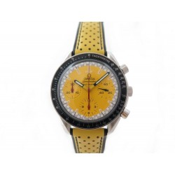 NEUF MONTRE OMEGA SPEEDMASTER SCHUMACHER 39MM CHRONOGRAPHE AUTOMATIQUE JAUNE