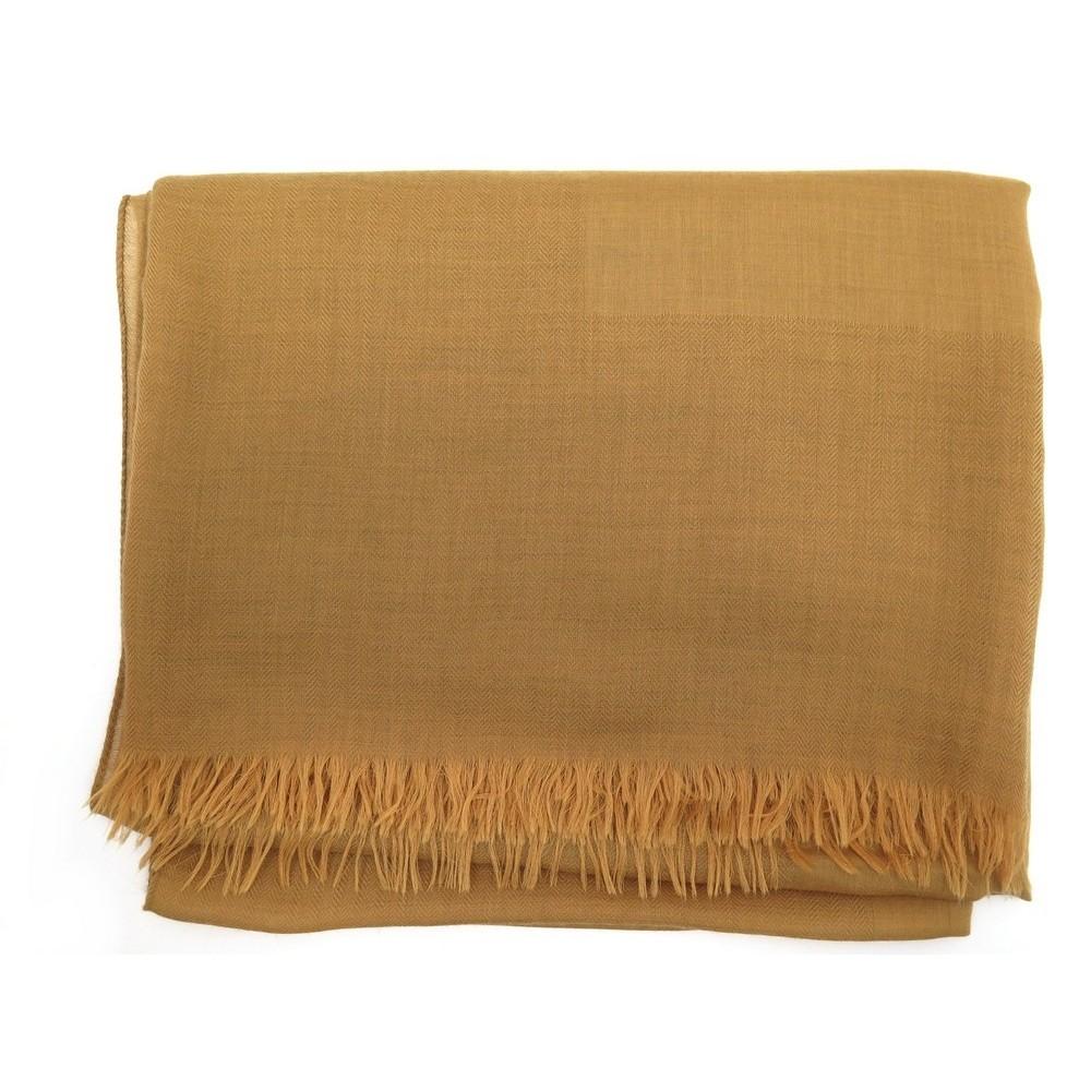 echarpe chale hermes en cachemire laine camel etole 3ca1429355b