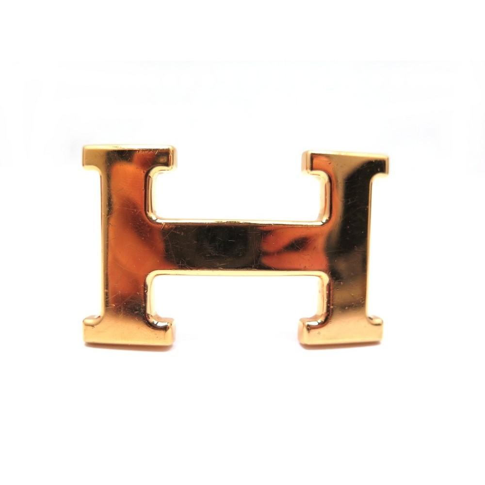 boucle de ceinture hermes h en metal dore 32mm mixte 06ba7784b7d