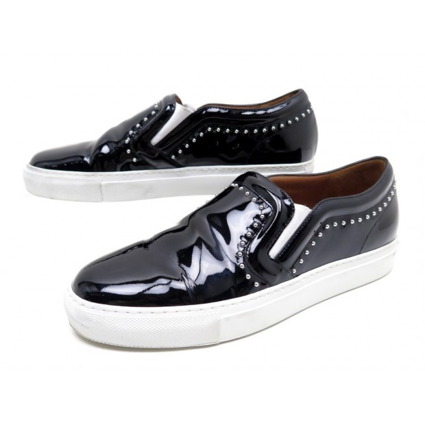 CHAUSSURES GIVENCHY BASKETS SKATE SLIP ON 39 NOIR CLOUTE STUDED SNEAKERS 680€